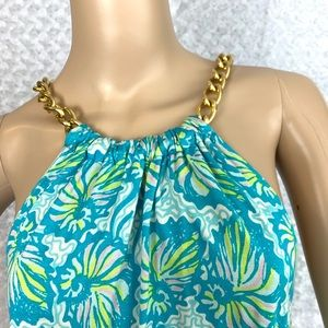 Lilly Pulitzer Chain Halter Floral Dress